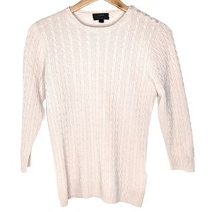 JCrew Italian Cashmere Cableknit Button Sweater